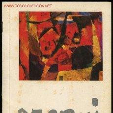 Arte: *ENRICO RAGNI* EXPO. GALERIA DEL GRATTACIELO, MILAN 1959. 12 PAGS 16,5X23,2 CMS.. Lote 2129665