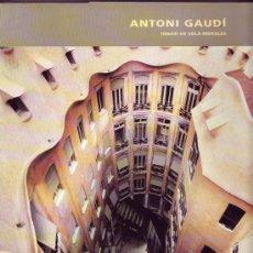 Arte: ANTONI GAUDI. IGNASI DE SOLÀ-MORALES, .. Lote 21062697