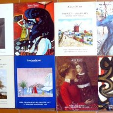 Arte: 8 CATALOGOS DE SUBASTAS DE PINTURAS, TALLAS, ARTE ABSTRACTO. 1994.. Lote 17740686