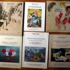 Arte: 6 CATALOGOS DE SUBASTAS, PINTURAS Y TALLAS. Lote 27533755