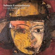 Arte: CATALOGO SUBASTA. SUBASTAS SALA RETIRO. DICIEMBRE 2008.. Lote 26423870