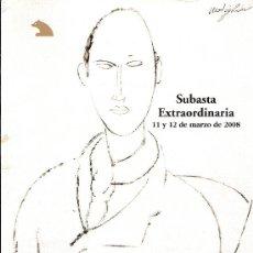 Arte: CATALOGO SUBASTA. SUBASTAS SALA RETIRO. MARZO 2008.. Lote 26582051