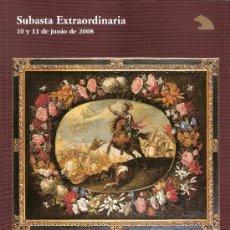 Arte: CATALOGO SUBASTA. SUBASTAS SALA RETIRO.JUNIO 2008.. Lote 26582052