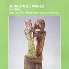 Arte: CATALOGO. SUBASTA. SUBASTAS SEGRE. PINTURA. MARZO 2010.. Lote 26632115