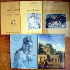 Arte: LOTE DE 5 CATALOGOS DE SUBASTAS DE PINTURAS, DIBUJOS, GRAVADOS, ETC.. Lote 19155381