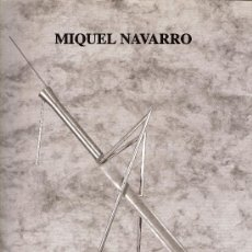 Arte: MIQUEL NAVARRO. GALERÍA ANTONIA PUYO. ZARAGOZA. NOVIEMBRE 1994 - ENERO 1995.. Lote 27243854