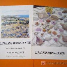 Arte: J. PAGANS MONSALVATJE - PETRITXOL - LOTE 2 CATALOGOS. Lote 20192615