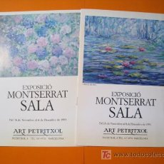 Arte: MONTSERRAT SALA - PETRITXOL - LOTE 2 CATALOGOS 1991-93. Lote 20192644