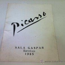 Arte: CATALO EXPOSICION PICASSO - SALA GASPAR BARCELONA 1985 34 ORIGINALS. Lote 22590427
