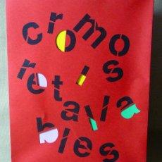 Arte: CROMOS I RETALLABLES, CROMOS Y RECORTABLES, EXPOSICION, 1990, IBERCAJA, VALENCIA. Lote 21391452