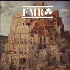 Arte: FMR: REVISTA DE ARTE Y CULTURA DE LA IMAGEN. Nº 77 FEBRERO/MARZO 2003. EDICIÓN ESPAÑOLA. ADVENIA. G. Lote 26310564
