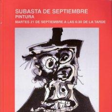 Arte: CATÁLOGO. SUBASTA DE PINTURA SEPTIEMBRE 2010. SUBASTAS SEGRE.. Lote 26824569