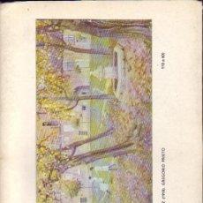 Arte: GREGORIO PRIETO. CATÁLOGO DE LA EXPOSICIÓN EN LA GALERÍA ARTETA DE BILBAO. 1974. Lote 26629599