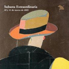 Arte: CATALOGO SUBASTA. SUBASTAS RETIRO. MARZO 2009.. Lote 26616885