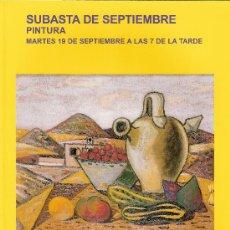 Arte: CATALOGO. SUBASTA. SUBASTAS SEGRE. PINTURA. SEPTIEMBRE 2006.. Lote 26632120
