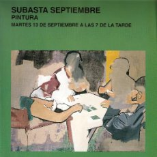 Arte: CATALOGO. SUBASTA. SUBASTAS SEGRE. PINTURA. SEPTIEMBRE 2005.. Lote 26632125