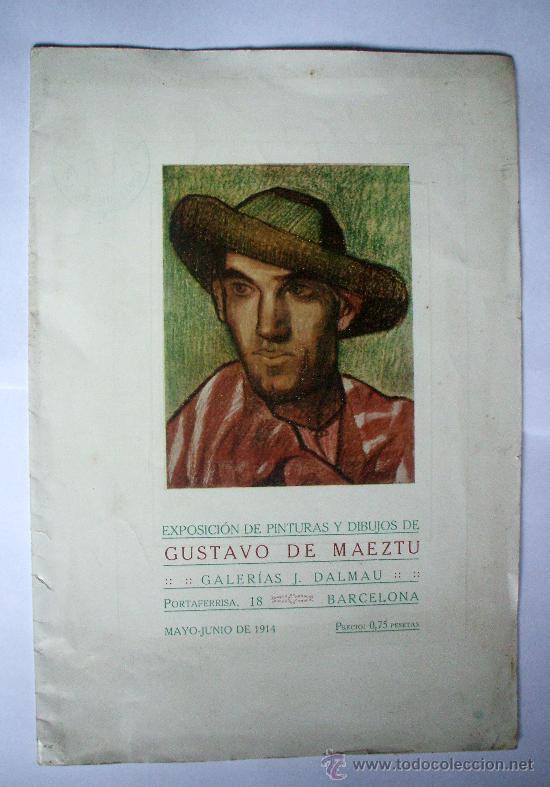 GUSTAVO DE MAEZTU - 1914 - GALERIAS DALMAU (Arte - Catálogos)