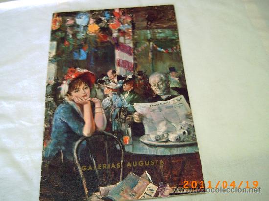 CATALOGO EXPOSICION DE PALMERO - GALERIAS AUGUSTA AÑO 1968 - BARCELONA (Arte - Catálogos)