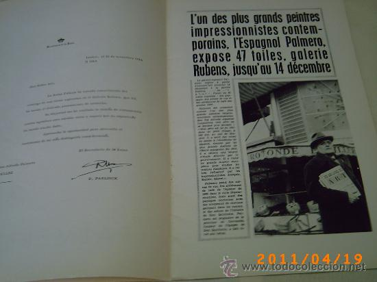 Arte: CATALOGO EXPOSICION DE PALMERO - GALERIAS AUGUSTA AÑO 1968 - BARCELONA - Foto 3 - 26379972