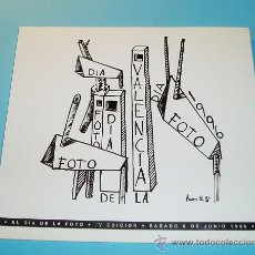 Arte: EL DÍA DE LA FOTO. IV EDICIÓN. 8-JUNIO-1996. VALENCIA. Lote 26962871