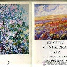 Arte: EXPOSICIÓ MONTSERRAT SALA - ART PETRITXOL, NOV. 1995. Lote 27534434