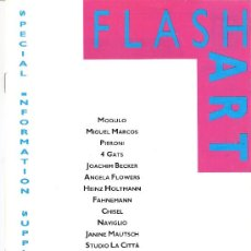 Arte: FLASH ART. SPECIAL INFORMATION SUPLEMENT. ART 19'88. BASEL 1988 ( BASILEA) EN INGLES.. Lote 29850545