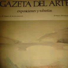 Arte: GAZETA DEL ARTE, EXPOSICIONES Y SUBASTAS, Nº 38,1975. Lote 29844206