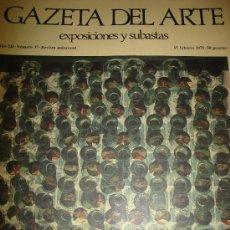 Arte: GAZETA DEL ARTE, EXPOSICIONES Y SUBASTAS, Nº 37,1975. Lote 29844208
