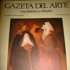 Arte: GAZETA DEL ARTE, EXPOSICIONES Y SUBASTAS, Nº 24,1974. Lote 29844218