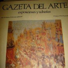 Arte: GAZETA DEL ARTE, EXPOSICIONES Y SUBASTAS,1974, Nº 18, JOAQUÍN MIR, PRIMER CENTENARIO. Lote 56556928