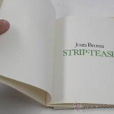 Kunst - Joan Brossa. STRIP-TEASE. Tiraje A, de solo 22 ejemplares para el Autor. Año 1982 - 30077421