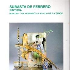Arte: CATALOGO. PINTURA. SUBASTA. SUBASTAS SEGRE. FEBRERO 2012.. Lote 30304725