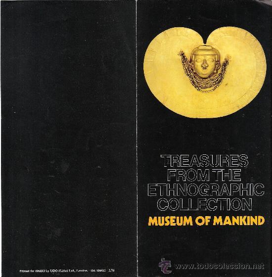 TREASURES FROM THE ETHNOGRAPHIC COLLECTION. MUSEUM OF MANKIND.BRITISH MUSEUM. 1976.DIPTICO. (Arte - Catálogos)