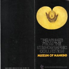 Arte: TREASURES FROM THE ETHNOGRAPHIC COLLECTION. MUSEUM OF MANKIND.BRITISH MUSEUM. 1976.DIPTICO.. Lote 30341702