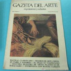 Arte: GACETA DEL ARTE. EXPOSICIONES Y SUBASTAS. Nº 6. JULIO 1973. TESOROS ARTE CHINO. Lote 30636122