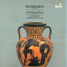 Arte: SOTHEBY'S ANTIQUITIES 31-V-1990 -CATÁLOGO DE SUBASTA DE OBJETOS DE ARQUEOLOGÍA. Lote 30960017