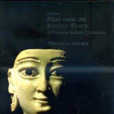 Arte: CHRISTIE'S FACES FROM THE ANCIENT WORLD 20-IV-2005 -CATÁLOGO DE SUBASTA DE OBJETOS DE ARQUEOLOGÍA. Lote 30960453