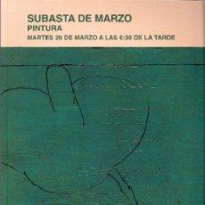 Arte: CATALOGO. PINTURA. SUBASTA. SUBASTAS SEGRE. MARZO 2012.. Lote 31111513