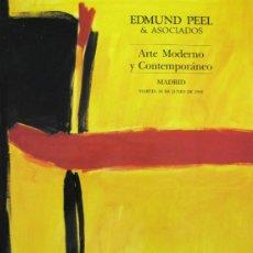 Art: CATALOGO - CASA DE SUBASTAS EDMUND PEEL & ASOCIADOS - ARTE MODERNO Y CONTEMPORÁNEO - 18 JUNIO 1991. Lote 31831324