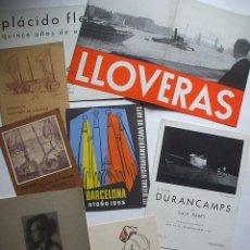 Arte: LOTE DE 40 CATALOGOS DE ARTE DE LOS AÑOS 30-40-50-60. Lote 32087097