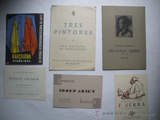 Arte: Lote de 40 CATALOGOS DE ARTE de los años 30-40-50-60 - Foto 2 - 32087097