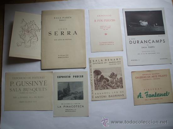 Arte: Lote de 40 CATALOGOS DE ARTE de los años 30-40-50-60 - Foto 5 - 32087097