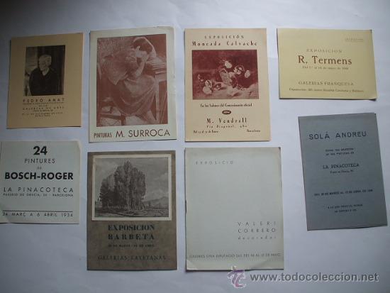 Arte: Lote de 40 CATALOGOS DE ARTE de los años 30-40-50-60 - Foto 6 - 32087097