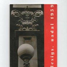 Arte: SALA GASPAR, BARCELONA. FELICITACIÓN NAVIDAD 1959, CON FOTO ORIGINAL. 8 X 23 CM.. Lote 32568047
