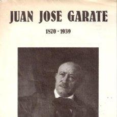 Arte: JUAN JOSÉ GÁRATE. 1870 - 1939. PALACIO DE LA LONJA. OCTUBRE 1983. 19 X 14'5 CMTRS.DÍPTICO.. Lote 32635373