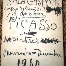 Arte: PICASSO 30 CUADROS INÉDITOS SALA GASPAR 917-1960 CON DOCUMENTO PRENSA DE LA EXPOSICION EN BARCELONA. Lote 32658144