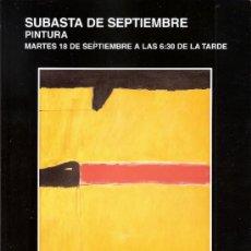 Arte: CATALOGO. PINTURA. SUBASTA. SUBASTAS SEGRE. SEPTIEMBRE 2012.. Lote 33358079