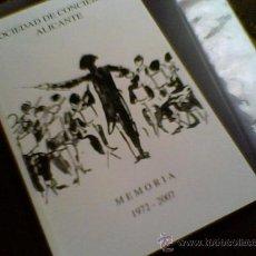 Arte: SOCIEDAD CONCIERTOS ALICANTE 1972 - 2007 DIBUJOS DE XAVIER SOLER. Lote 33460990