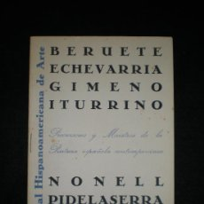 Arte: CATÁLOGO.1ª BIENAL HISPANOAMERICANA DE ARTE. PRECURSORES Y MAESTROS. MADRID,1951.. Lote 180490653