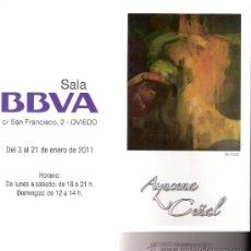 Arte: AZUCENA CEÑAL.ENERO 2011.SALA BBVA. OVIEDO. DÍPTICO.21 X 10'5 CMTRS.. Lote 34881805